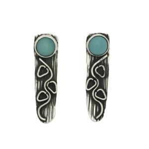 Sterling Silver Earrings Accented with Turquoise