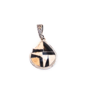 Onyx and Boulder Inlay Pendant