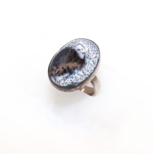 Dendritic Opal Sterling Silver Ring