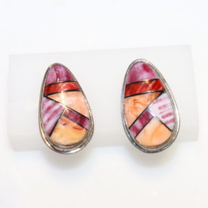 Spiney Oyster Inlay Earrings