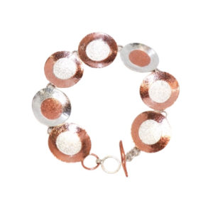 CopperSterlingDiscBracelet