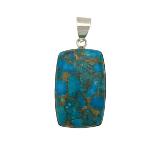 Copper Infused Turquoise Pendant