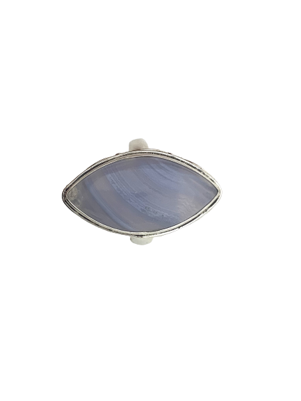 Marquise Blue Lace Agate Sterling Silver Ring