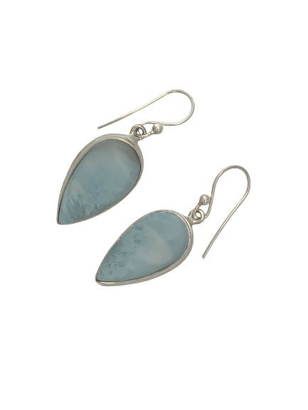 Larimar Teardrop Sterling Silver earrings