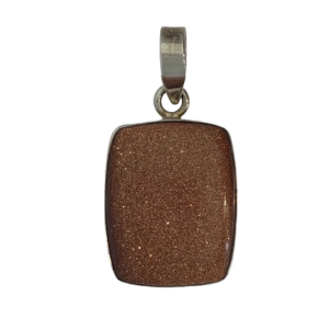 Goldstonesterlingsilverpendant